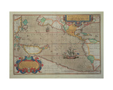 Map of the Pacific, China and America, 1589 by Abrahamus Ortelius Giclee Print by Abraham Ortelius