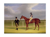 The Hon. E. Petre's 'Rowton', Winner of the St. Leger with Bill Scott Up, 1829 Giclee Print by John Frederick Herring Snr