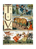 T to V from an Alphabet Based on Old Nursery Rhymes Giclee Print by Walter Crane