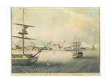 View of New York from 'Le Jupiter' of 74 Guns Lying at Anchor in the North River, 1794 Giclee Print by Archibald Robertson