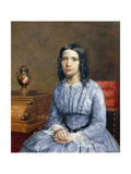 Portrait of Matilda Bury, 1855 Giclee Print by John Brett