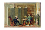 Napoleon Dictating His Memoirs at St. Helena to Comte Las Casas Giclee Print by George Cattermole