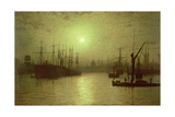 Nightfall Down the Thames, 1880 Giclee Print by John Atkinson Grimshaw