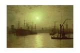 Nightfall Down the Thames, 1880 Giclee Print by John Atkinson Grimshaw