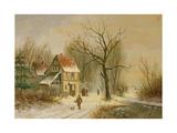 Winter Scene Giclee Print by Jacob Jan Coenraad Spohler