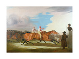 Match Between Colonel Henry Mellish's 'Eagle' and Sir Charles Bunbury's 'Eleanor', Newmarket,… Giclee Print by Benjamin Marshall