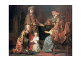 The Infant Samuel Brought by Hannah to Eli, 17th Century Giclee Print by Gerbrandt Van Den Eeckhout