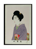 Shin Bijin (True Beauties) Depicting a Seated Woman, from a Series of 36, Modelled on an Earlier… Giclee Print by Toyohara Chikanobu