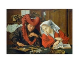 The Banker and His Wife, 1538 Giclee Print by Marinus van Roejmerswaelen
