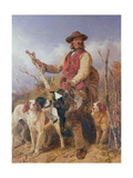 Gamekeeper with Dogs Giclee Print by Richard Ansdell