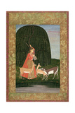 Pd.201-1948 Girl Playing a Vina with Three Antelopes, or an Allegory on the Power of Love, Mughal… Giclee Print