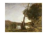 The Shepherd's Star, 1864 Gicléedruk van Jean-Baptiste-Camille Corot