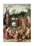 Laban Searching for the Stolen Teraphims Amongst Jacob's Caravan Giclee Print by Willem van Nieulandt