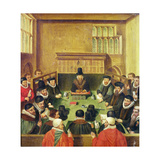 Court of Wards and Liveries, Presided over by the Master of the Court, Lord Burghley (1520-98),… Giclee Print