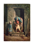Maternal Care, 1855-57 Giclee Print by Jean-François Millet