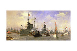 Naval Parade, Held in Honor of Commander George Dewey (1837-1917) 1898 Giclee Print by Fred Pansing