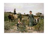 Corner of a Vineyard, Languedoc, 1886 Giclee Print by Edouard Debat-Ponsan