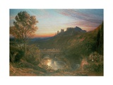 The City at Sunset Giclee Print by Samuel Palmer