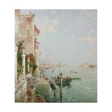 Venice: View from the Zattere with San Giorgio Maggiore in the Distance Giclee Print by Franz Richard Unterberger