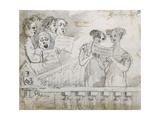 Oratorio Performance at the Drury Lane Theatre, Part One of a Triptych, 1814 Gicleetryck av John Nixon