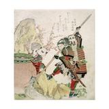 Sima Wengong (Shiba Onko) and Shinozuka, Lord of Iga (Shinozuka-Iga-No-Teami), 1821 Giclee Print by Katsushika Hokusai