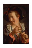 A Jester Holding a Flute, 1623 Giclee Print by Peter Wtewael