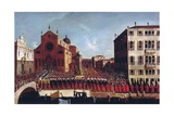 The Funeral of the Doge at Ss. Giovanni and Paolo, Venice Giclee Print by Gabriele Bella
