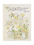 The Buttercup and the Cowslip from the 'Flora's Feast' Giclee Print by Walter Crane