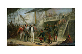 Nelson Boarding the 'san Josef' on 14th February 1797 after Sir John Jervis' Victory Off Cape St.… Giclee Print by Thomas Jones Barker