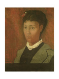 Portrait of the Artist's Wife, Madame Odilon Redon (Nee Camille Falte) (1853-1923), 1882 Giclee Print by Odilon Redon