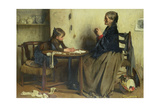 A Difficulty Giclee Print by Arthur Hacker