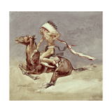 Pony War Dance Giclee Print by Frederic Remington