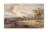View of Kirkstall Abbey, Leeds, 1860 Giclee Print by George Arthur Fripp
