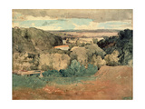 Barnard Castle from Towler Hill Giclee Print by John Sell Cotman