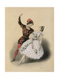 The Celebrated 'Mazurka D'Extase' Danced by M. Perrot and Mlle. Lucile Grahn at Her Majesty's… Giclee Print by John Brandard