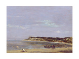 The Coast at La Heve, 1856 Giclee Print by Eugene Louis Boudin