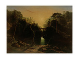 Romantic Landscape, 1820 Giclee Print by James Johnson