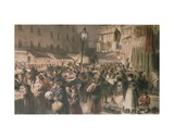 Lambeth Market Giclee Print by Godefroy Durand