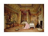 Old Letters - a Scene at Knole, 1873 Giclee Print by Claude Andrew Calthrop