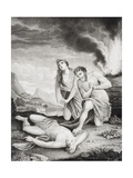 Abel Murdered by His Brother Cain Giclee Print by Pieter van der Werff