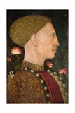 Portrait of Lionello D'Este (D.1450) Giclee Print by Antonio Pisanello