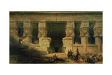 The Temple of Dendera, Upper Egypt, 1841 Giclée-Druck von David Roberts