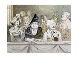 Caricature of the Audience at the Commemoration of Handel in Westminster Abbey in 1784, 1790 Giclee Print by John Nixon