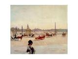 Place De La Concorde, Paris Giclee Print by Georges Fraipont