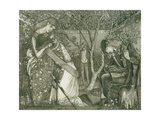 The Knight's Farewell, 1858 Giclee Print by Sir Edward Coley Burne-Jones