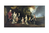John 2nd Earl of Egmont (1711-1770) and His Family, C.1770 Giclee Print by Hugh Barron