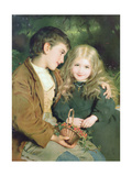 Little Sweethearts, from a Pears Annual, C.1880 Gicléetryck