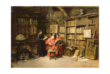 In the Cardinal's Study Giclee Print by Jose Benlliure Y Gil