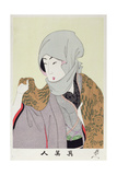 Shin Bijin (True Beauties) Depicting a Woman with a Headscarf, from a Series of 36, Modelled on… Giclee Print by Toyohara Chikanobu