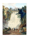 The Falls at Tivoli, 1770 Giclee Print by Jacob-Philippe Hackert